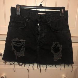 Black bean skirt button up
